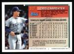 1994 Topps #317  Cris Carpenter  Back Thumbnail