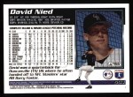 1995 Topps #594   David Nied Back Thumbnail