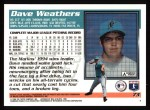 1995 Topps #73  Dave Weathers  Back Thumbnail