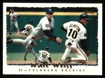 1995 Topps #110   Walt Weiss Front Thumbnail