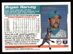 1995 Topps #311   Bryan Harvey Back Thumbnail