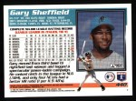1995 Topps #440   Gary Sheffield Back Thumbnail