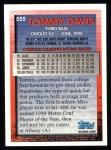 1995 Topps #555   Tommy Davis Back Thumbnail