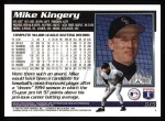 1995 Topps #615   Mike Kingery Back Thumbnail