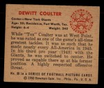 1950 Bowman #69   DeWitt Coulter Back Thumbnail