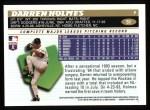 1996 Topps #51  Darren Holmes  Back Thumbnail