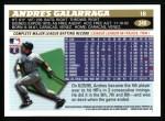 1996 Topps #249  Andres Galarraga  Back Thumbnail