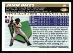1996 Topps #336  Jason Bates  Back Thumbnail