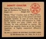 1950 Bowman #69  DeWitt Coulter  Back Thumbnail
