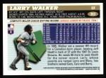 1996 Topps #363   Larry Walker Back Thumbnail
