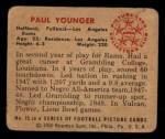 1950 Bowman #15   Paul Younger Back Thumbnail