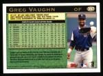 1997 Topps #397  Greg Vaughn  Back Thumbnail