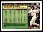 1997 Topps #10   Andres Galarraga Back Thumbnail