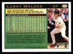 1997 Topps #461   Larry Walker Back Thumbnail