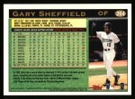 1997 Topps #264  Gary Sheffield  Back Thumbnail