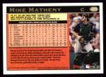 1997 Topps #485   Mike Matheny Back Thumbnail
