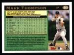 1997 Topps #441   Mark Thompson Back Thumbnail