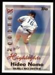 1997 Topps #464  Season Highlights  -  Hideo Nomo Front Thumbnail