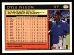 1997 Topps #170  Otis Nixon  Back Thumbnail