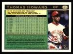 1997 Topps #231  Thomas Howard  Back Thumbnail