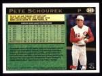 1997 Topps #349  Pete Schourek  Back Thumbnail