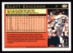 1997 Topps #347  Scott Erickson  Back Thumbnail