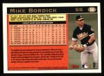 1997 Topps #86   Mike Bordick Back Thumbnail