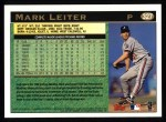 1997 Topps #327   Mark Leiter Back Thumbnail