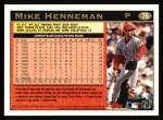 1997 Topps #76  Mike Henneman  Back Thumbnail