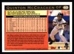 1997 Topps #443  Quinton McCracken  Back Thumbnail