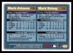 1997 Topps #483   Mark Kotsay / Mark Johnson Back Thumbnail