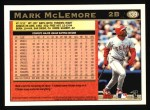 1997 Topps #139  Mark McLemore  Back Thumbnail