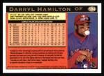 1997 Topps #194   Darryl Hamilton Back Thumbnail