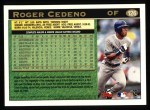 1997 Topps #126  Roger Cedeno  Back Thumbnail