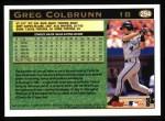 1997 Topps #294   Greg Colbrunn Back Thumbnail