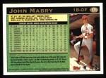 1997 Topps #171  John Mabry  Back Thumbnail