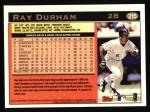 1997 Topps #215  Ray Durham  Back Thumbnail