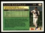 1997 Topps #267   Luis Castillo Back Thumbnail
