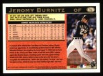 1997 Topps #475  Jeromy Burnitz  Back Thumbnail