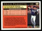 1997 Topps #417  Craig Paquette  Back Thumbnail