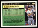 1997 Topps #449   Chad Curtis Back Thumbnail