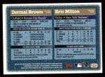 1997 Topps #272  Eric Milton / Dermal Brown  Back Thumbnail