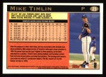 1997 Topps #23   Mike Timlin Back Thumbnail