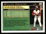 1997 Topps #371   Willie Greene Back Thumbnail