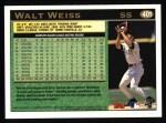 1997 Topps #401  Walt Weiss  Back Thumbnail