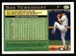 1997 Topps #219  Bob Tewksbury  Back Thumbnail