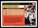 1997 Topps #288  Todd Greene  Back Thumbnail