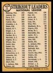 1968 Topps #11  NL Strikeout Leaders  -  Jim Bunning / Ferguson Jenkins / Gaylord Perry Back Thumbnail