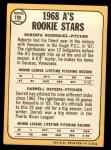 1968 Topps #199  A's Rookies  -  Roberto Rodriquez / Darrell Osteen Back Thumbnail