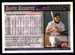 1998 Topps #155  Dante Bichette  Back Thumbnail